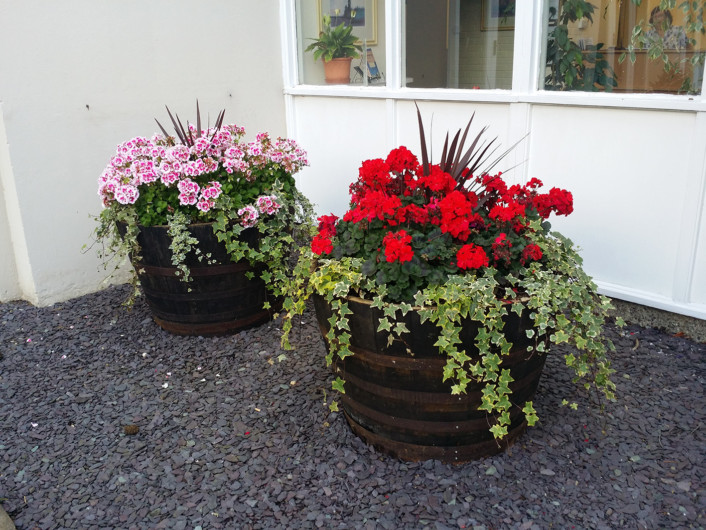 Feature Gardens with planters