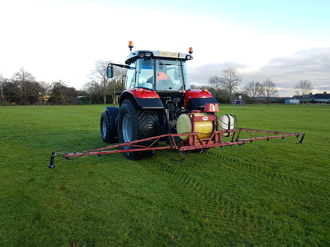 Sports Pitch Maintenance Weed Killing