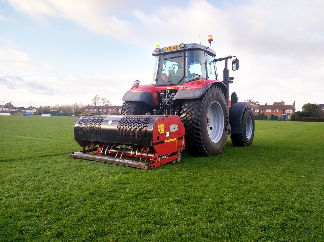 Verti-Draining for Sport Fields Northamptonshire